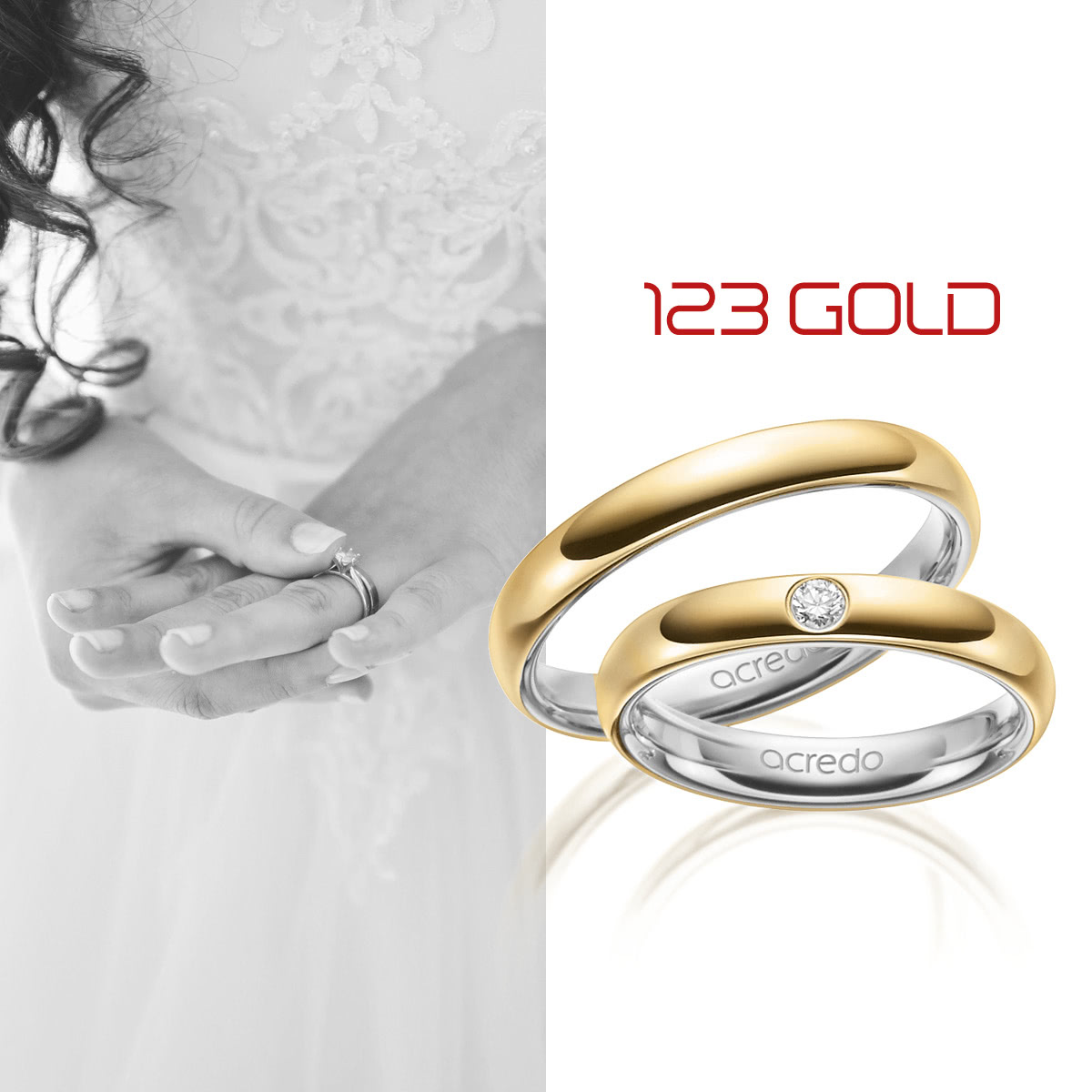 Hochwertige Eheringe und Trauringe aus Gold  3gold